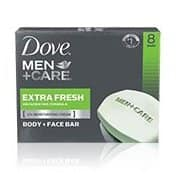 Dove Men+Care Body and Face Bar, Extra Fresh, 4 Ounce, 20 Bars - 14.79