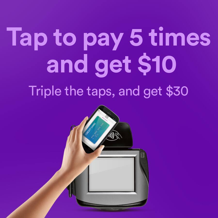 Softcard - Tap to pay 5 times and get $10 Amazon GC.  Triple the taps, and get $30 GC.