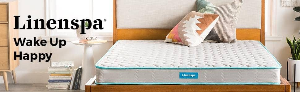 "LINENSPA 6"" Innerspring Twin Mattress for $44(/$59) +FS @ Amazon"
