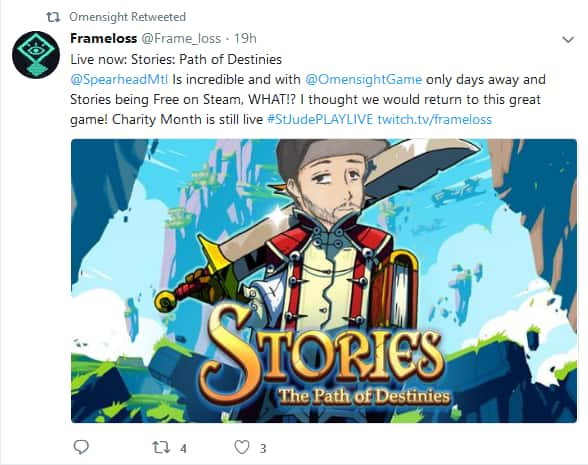 PC - Free Stories: The Path of Destinies Collector Bundle via Adding Omesnight on Steam Wishlist