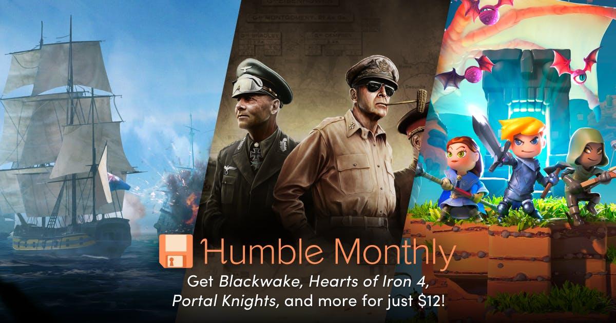 PC - Humble Monthly Bundle July // Hearts of Iron IV // Portal Knights // Blackwake