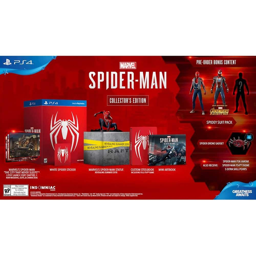 PS4 - Spider-Man Collector's Edition $149.99 @ GameStop // Best Buy Also for In-Store Pickup (YMMV)