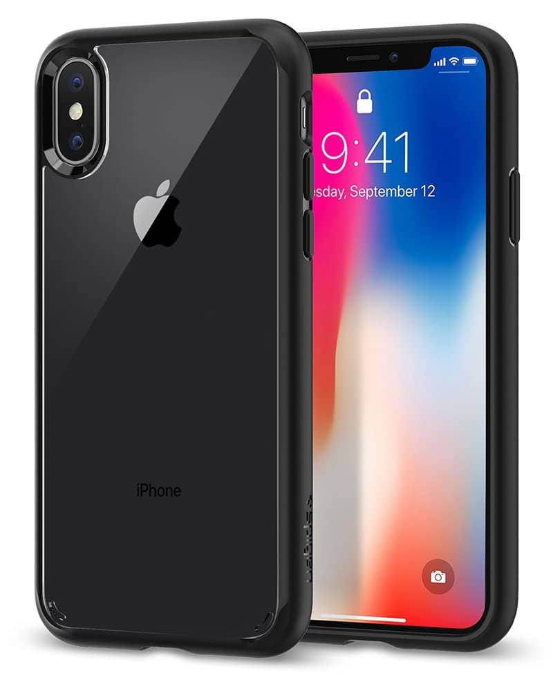 Ultra Hybrid iPhone X Case with Air Cushion Technology and Clear Hybrid Drop Protection for Apple iPhone X $7.99