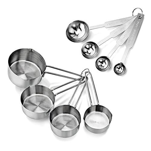 Star Foodservice 42917 Stainless Steel 4pcs Measuring Cups and Spoons Combo Set [1, 1 Cup] $7