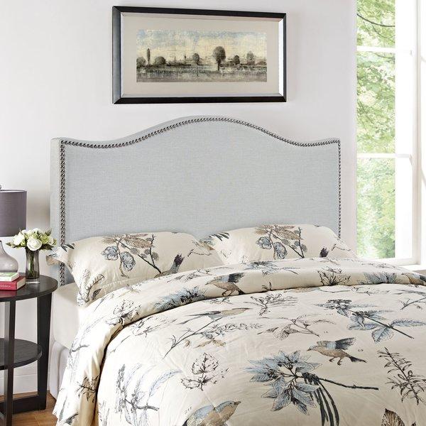 Bransford Curl Upholstered Headboard [Upholstery : Gray] $114.99