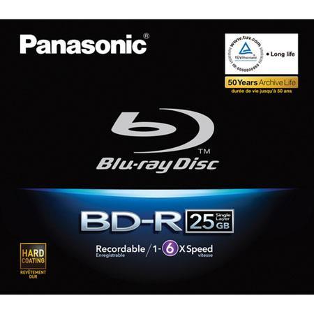 Panasonic 25GB 6X Speed Recordable Blu-ray Disc $7.49