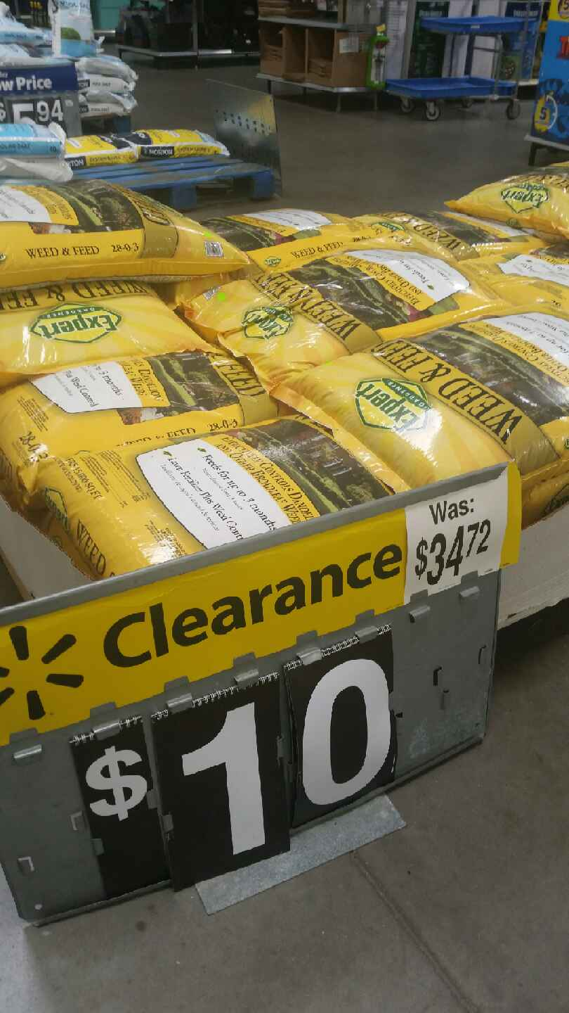 Scotts turf builder and Expert weed and feed walmart clearance