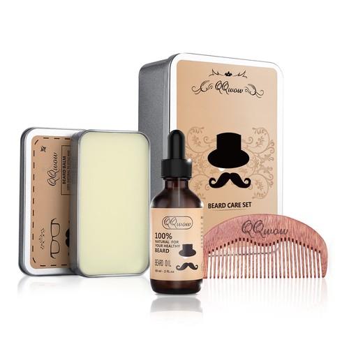 QQwow Beard Grooming Kit $13.74 + Free Shipping