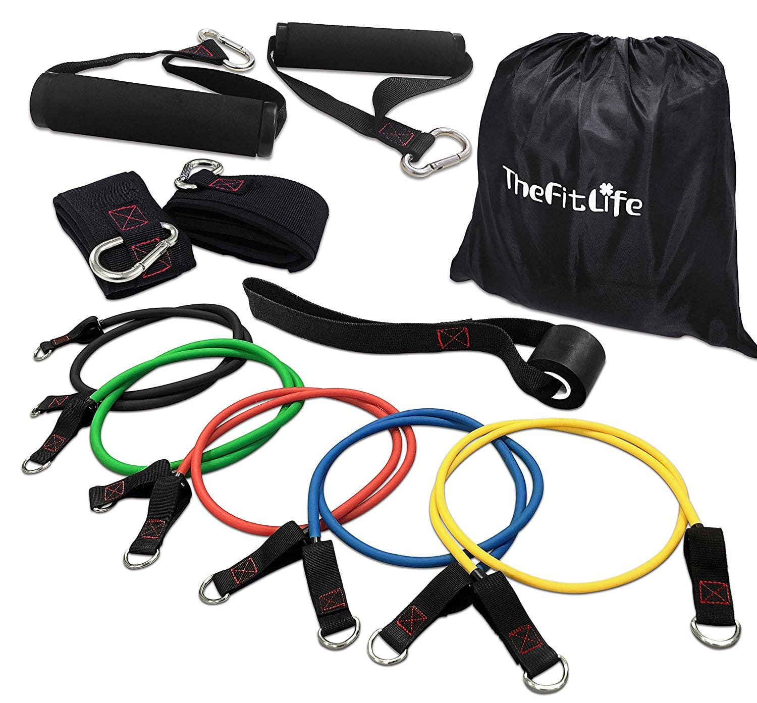 11-Piece Exercise Workout Resistance Bands Set $18.94 + Free Shipping