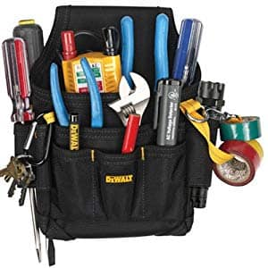 DEWALT DG5103 Small Durable Maintenance and Electrician's Pouch with Pockets for Tools, Flashlight, Keys $14.88
