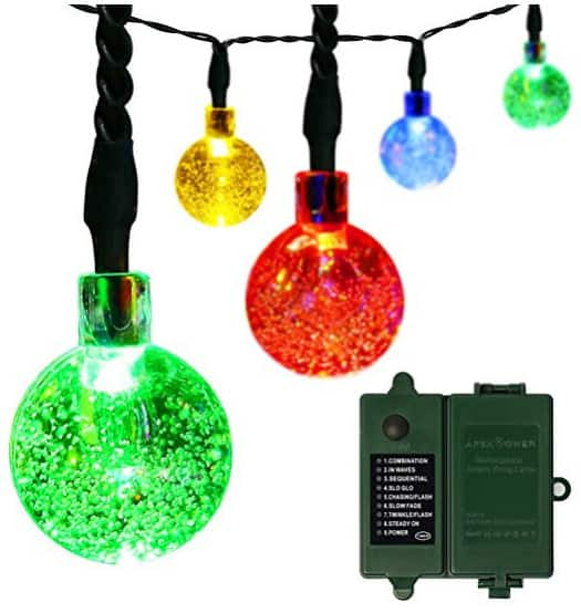 30LED 21ft 8 Modes Christmas String Lights for Outdoor Indoor $6.99