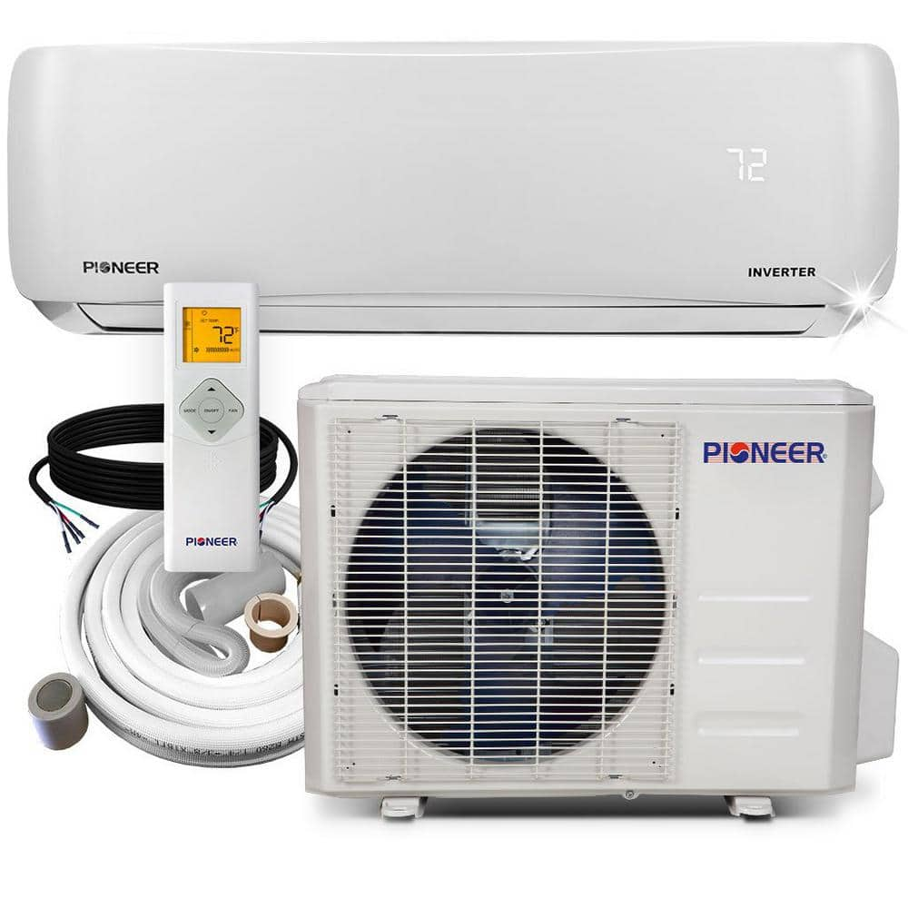 Pioneer Inverter++ ENERGY STAR 24,000 BTU 2-Ton Ductless Mini Split 20.5 SEER Wall-Mounted Air Conditioner with Heat Pump 230V $1288
