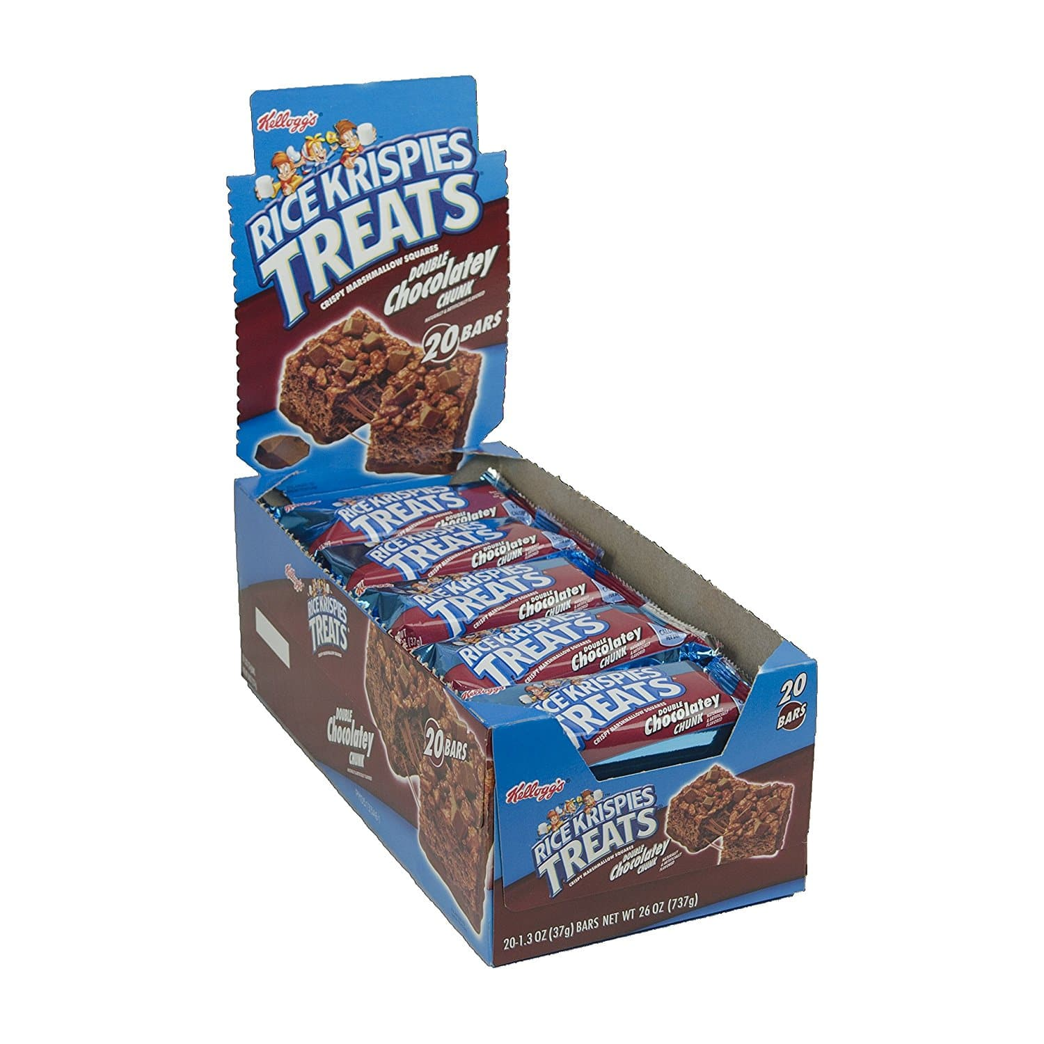 Pack of 40 - Rice Krispies Treats Double Chocolatey Chunk Grab 'n Go Snacks, 1.3-Ounce Packages $5.47 FS with Subscribe and save