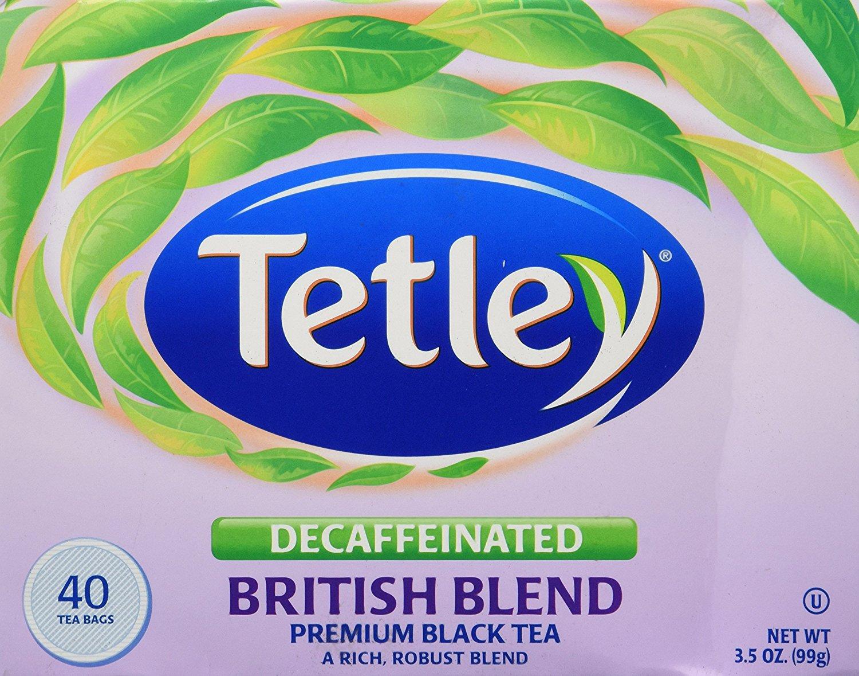 Tetley Decaffeinated British Blend Premium Black Tea, 40 Tea Bags $2.59 w/Prime