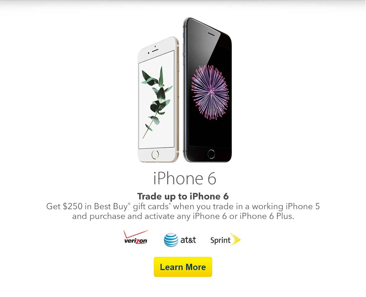 Best Buy: Trade-in working iPhone 5 receive $200 giftcard + $50 giftcard + $25 reward points towards iPhone 6 purchase