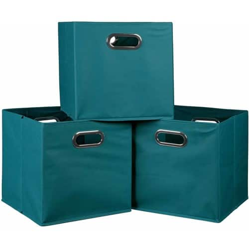 Niche Cubo Set of 3 Foldable Fabric Storage Bins, Set of 3, Multiple Colors $7