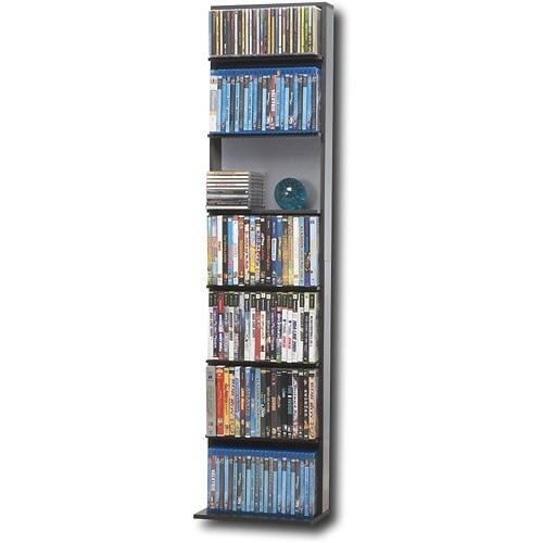 ATLANTIC - Elite Oskar Multimedia Storage Cabinet - Black/Gray $17.99