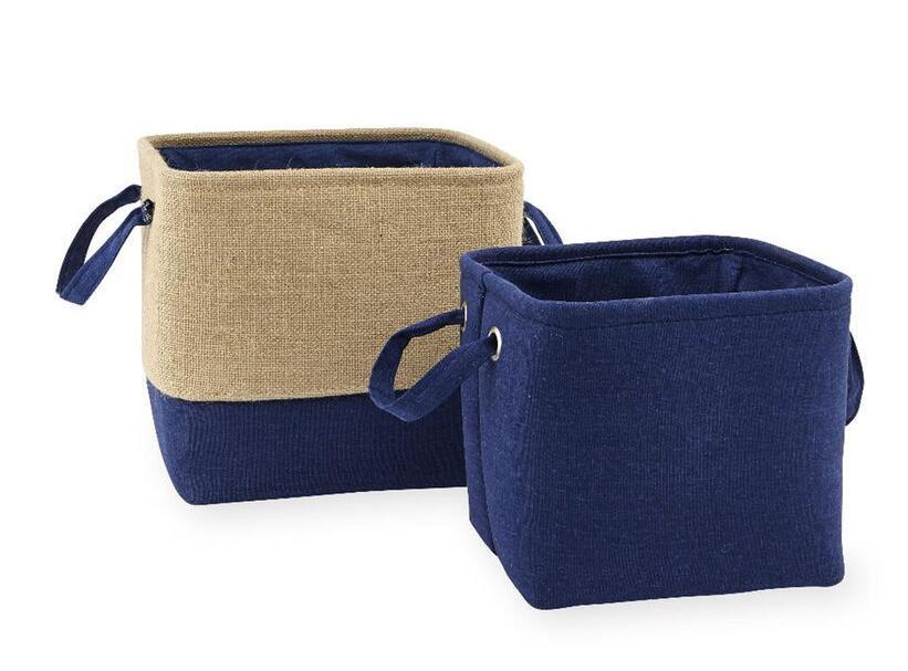 Koala Baby 2 Pack Storage Bins - Navy/Burlap $7.98