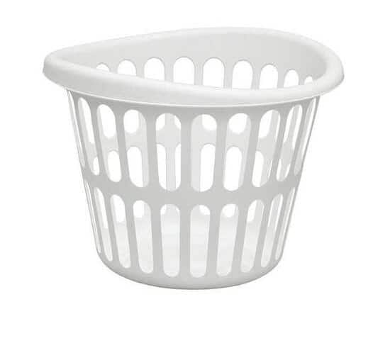 LN0275 White Laundry Basket, Plastic $2.98