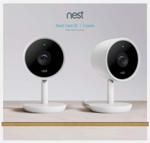 New Sealed Nest Cam IQ Indoor Full HD Wi-Fi Home Security Camera 2-Pack White $299.99