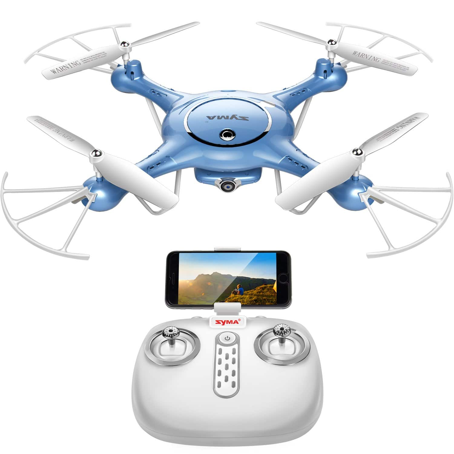 Syma X5UW Drone 720P HD Wi-Fi Camera Live Video + Extra Battery -- $31.65