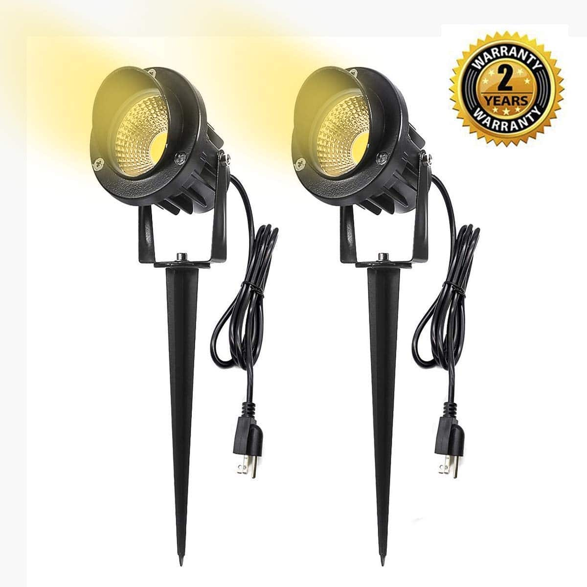 Landscape LED Spotlights Aluminum with spikes (2-Pack) -- $9.99