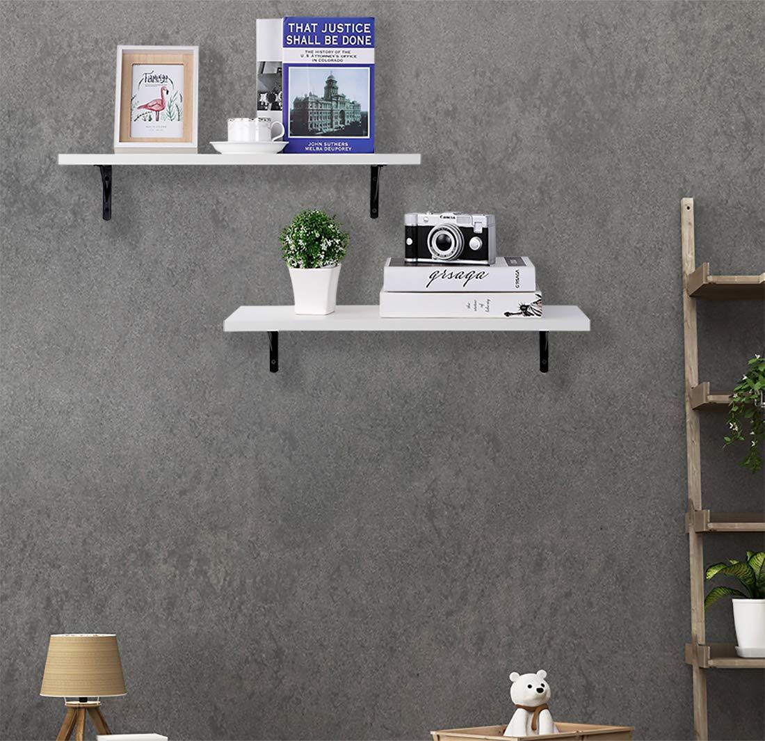Wall Mounted White Shelves (Set of 2) -- $15.62