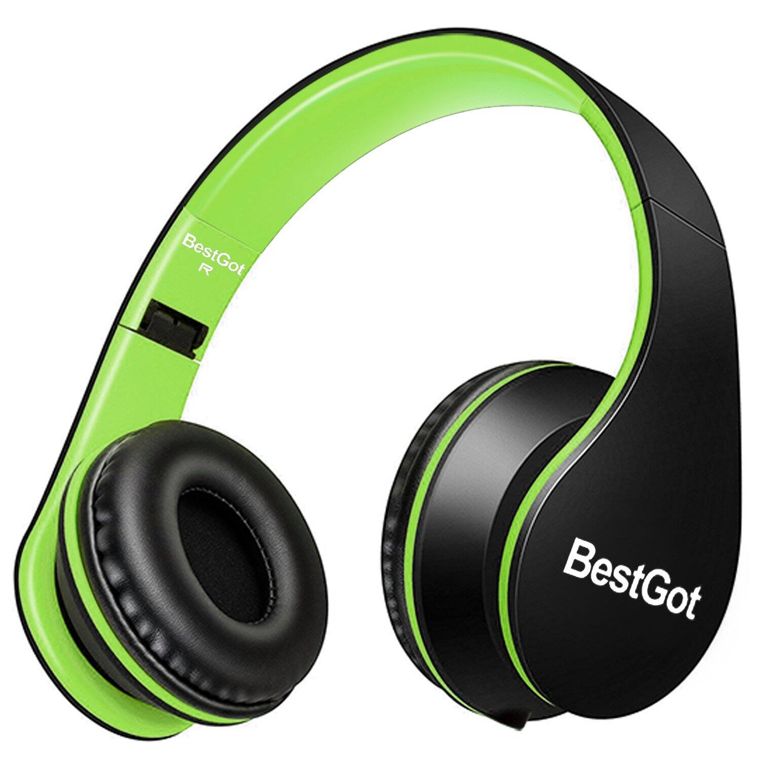 Headphones with Microphone for Kids/Adults, Foldable, Removable Cord -- $8.39