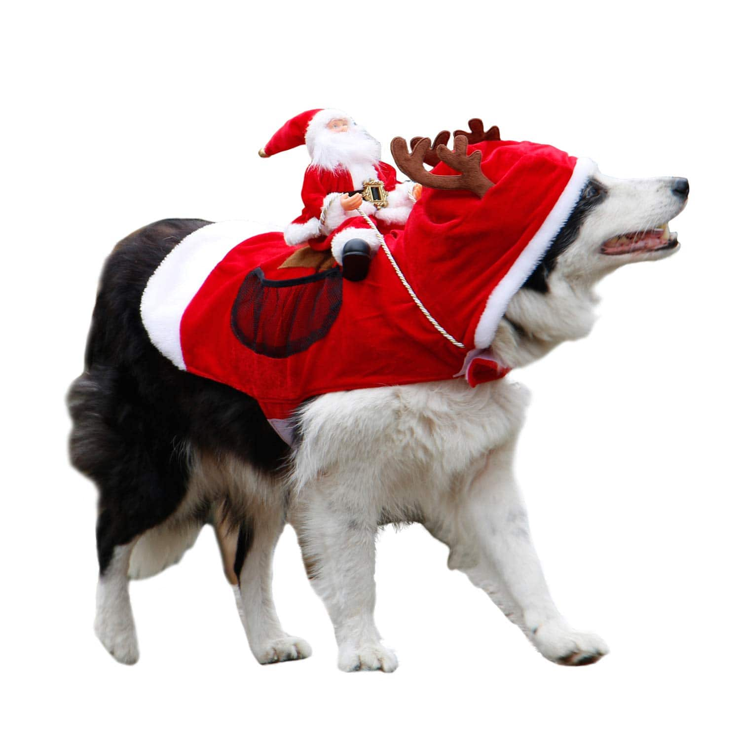 Running Santa Christmas Pet Costume (dogs and cats) -- $10.80
