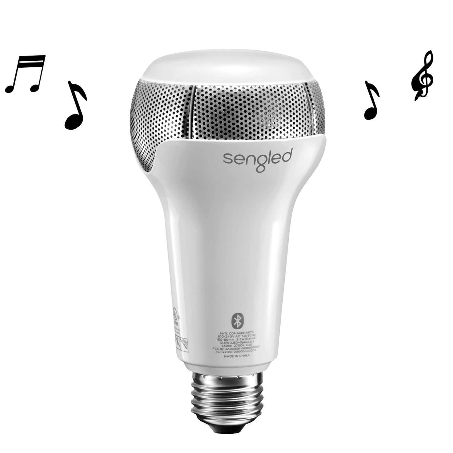 Dimmable 45Weq LED Light Bulb with BT Speaker + App, Alexa compatible -- $18