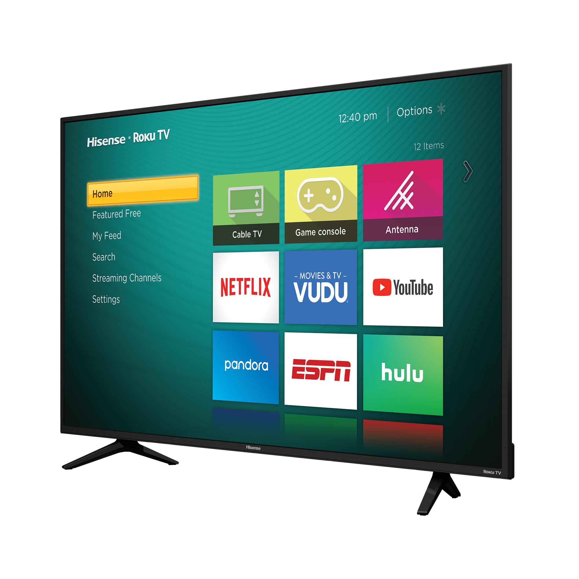 """Hisense 55"""" Class 4K Ultra HD (2160P) HDR Roku Smart LED TV (55R6E) $298"""