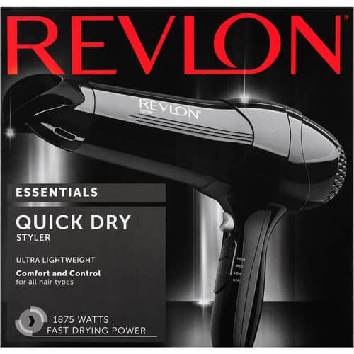 Revlon Quick Dry Lightweight Hair Dryer $11.09