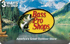 15% off Bass Pro E-Gift card $85