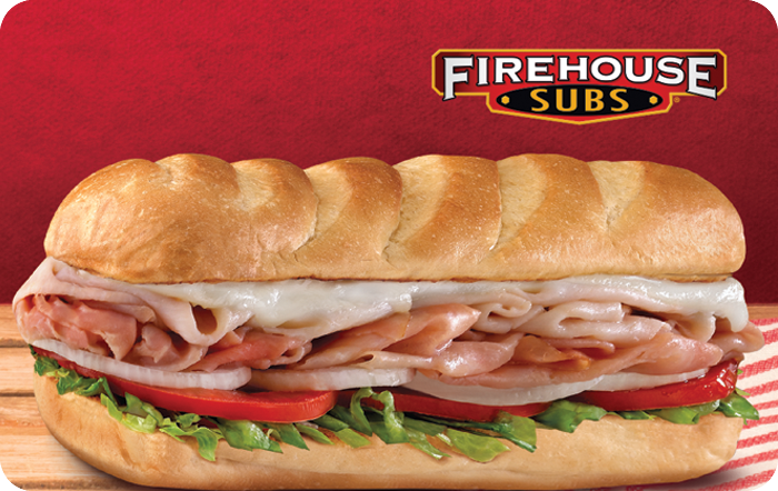 $10 off $50 Firehouse Subs Gift Card $40