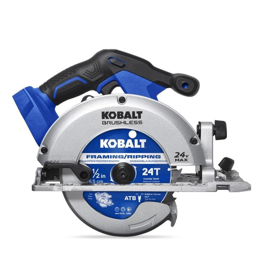 Kobalt 24-Volt Max 6-1/2-in Cordless Circular Saw + 2 amp hour battery $99 @ Lowes