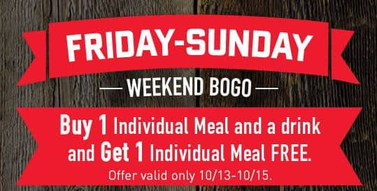 Boston Market Coupon: Purchase Individual Drink & Meal, Receive 2nd Meal Free w/ Purchase thru Oct 15, 2017