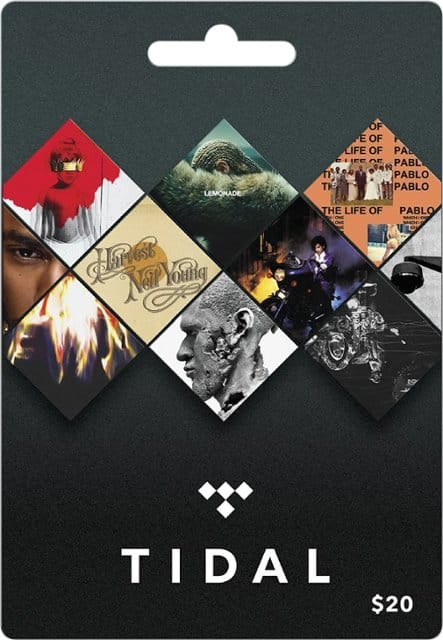 Tidal $20 gift card 20% off