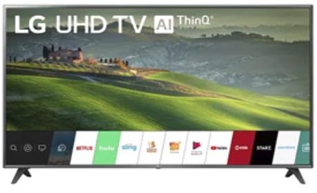 LG 75 Inch TV - UM6970PUB + $100 Dell eGift Card $799 + free s/h
