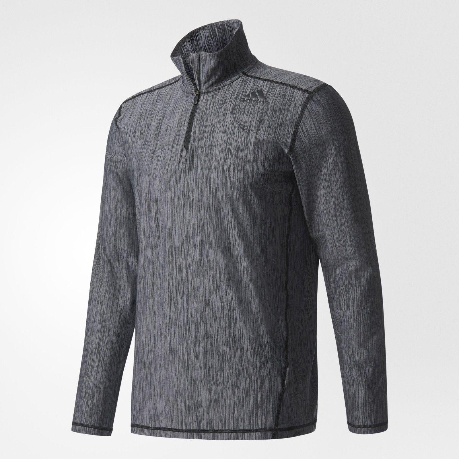 Adidas Men's Vertical Heather 1/4 Zip Track Jacket $24 @ eBay