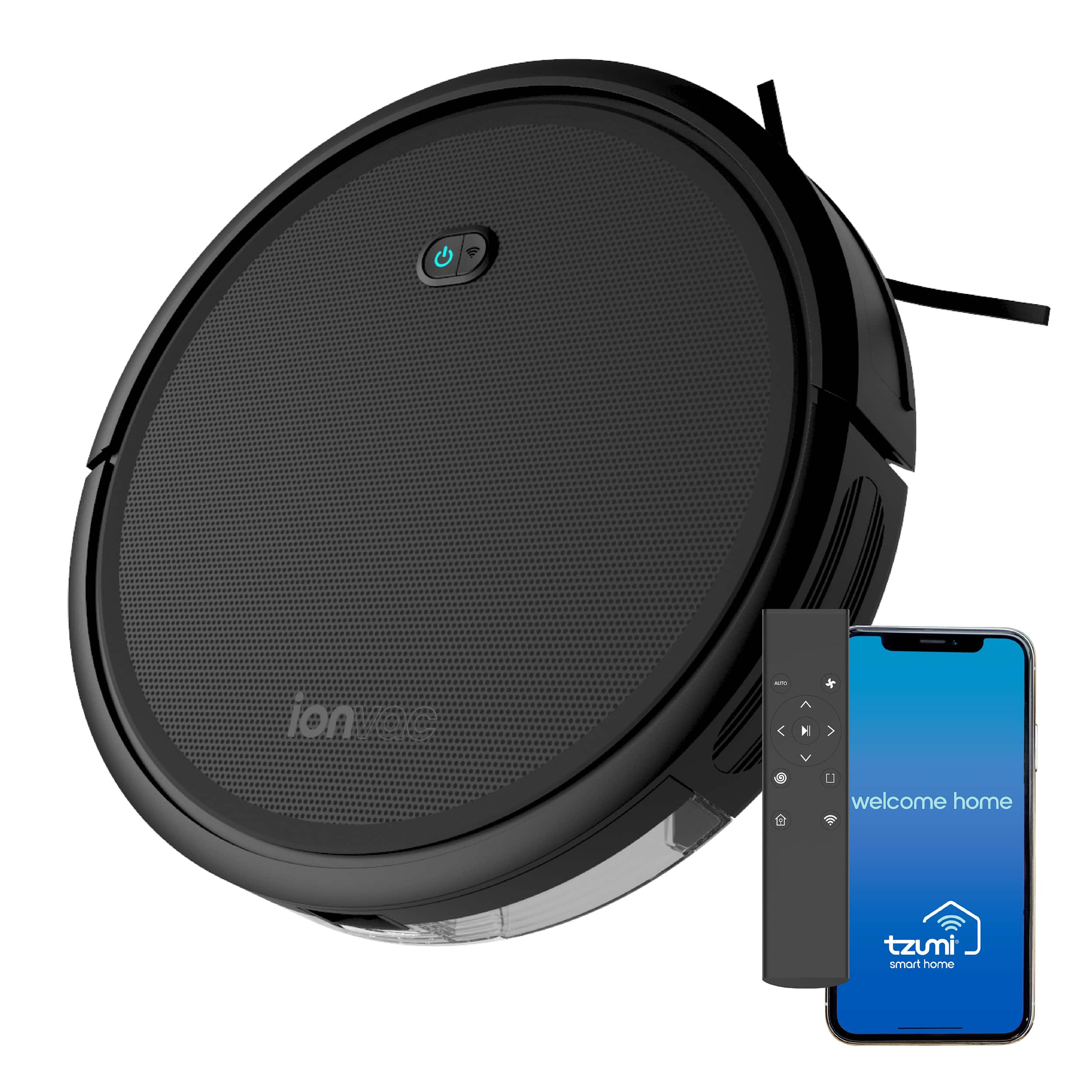 $99 ionVac Robot Vacuum, Powerful (2000Pa Suction) Wi-Fi Connected + FREE Delivery