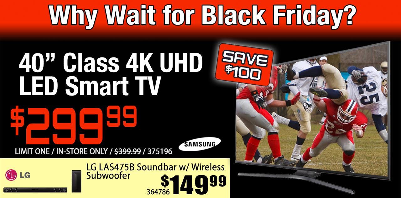 """Samsung MU6290 40"""" 4K TV - Microcenter In store $299"""