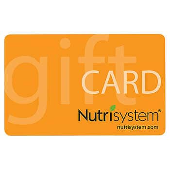 $100 Nutrisystem gift card for $59.99 at Costco - Membership Required