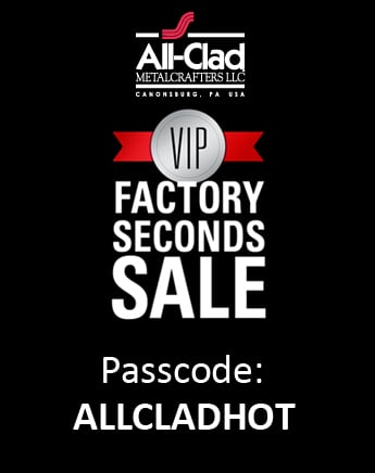 All-Clad Factory Seconds Sale - Extended through Aug 18