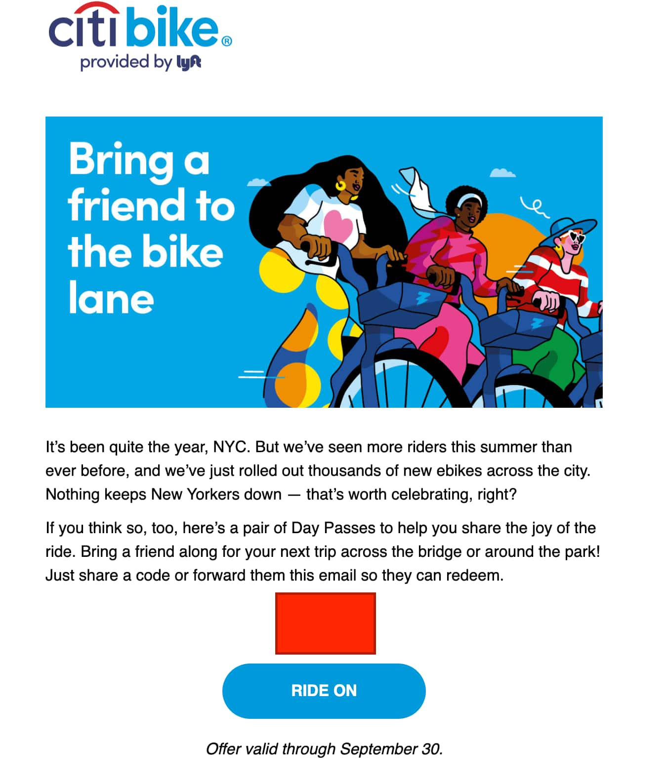 2 Free Citi Bike Day Passes (NYC) - Ends Sept 30