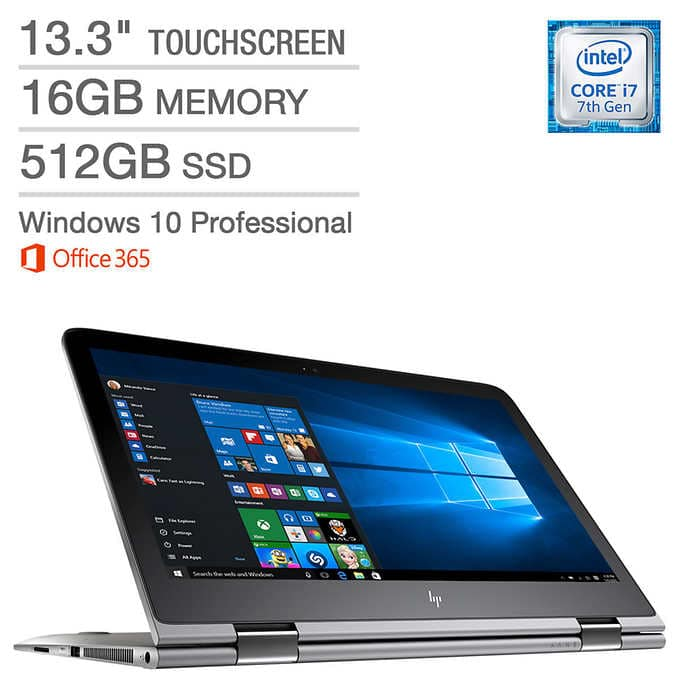 HP ENVY x360 13t Touchscreen 2-in-1 Laptop - Intel Core i7 - QHD+ - Office 365 Personal (1-year) $999