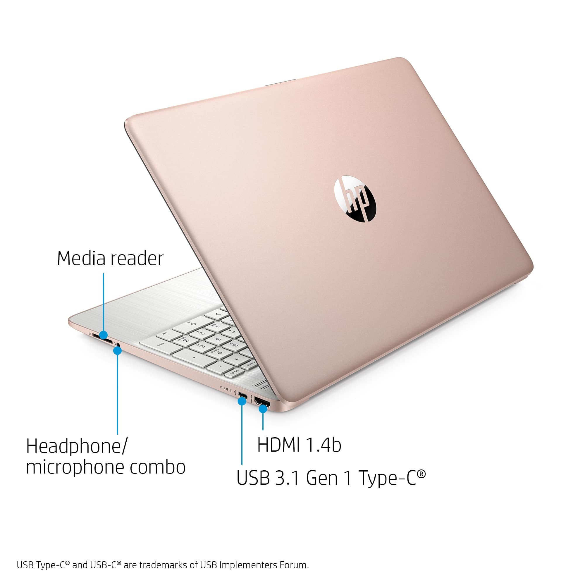 "HP 15.6"" Ryzen 5 8GB/256GB Laptop-Rose Gold $449"