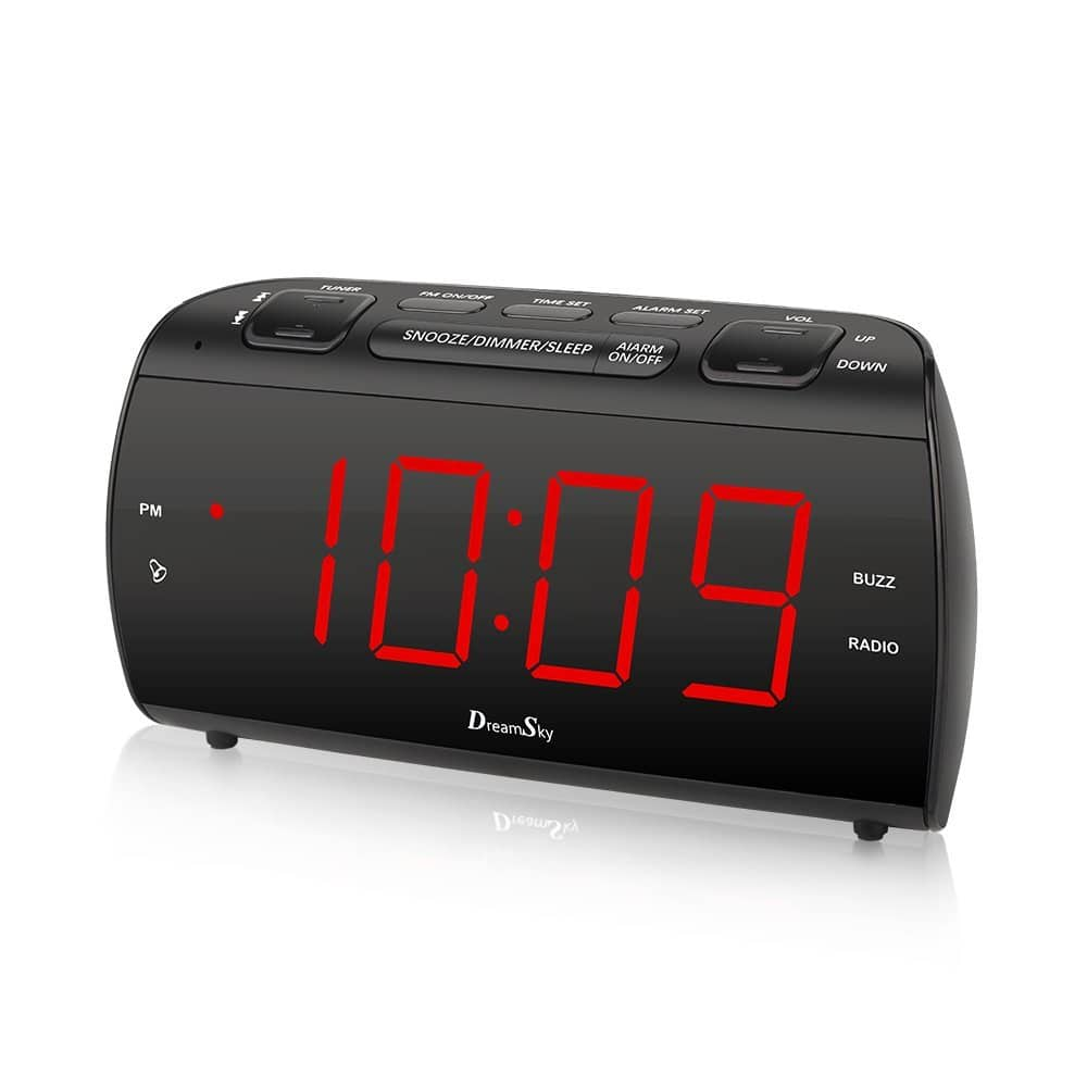 25% off $24.99 On DreamSky Alarm Clock Radio With FM Radio And USB Port For Phone Charger at amazon  $18.74