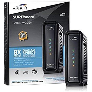ARRIS SURFboard SB6141 DOCSIS 3.0 Cable Modem- $44.10