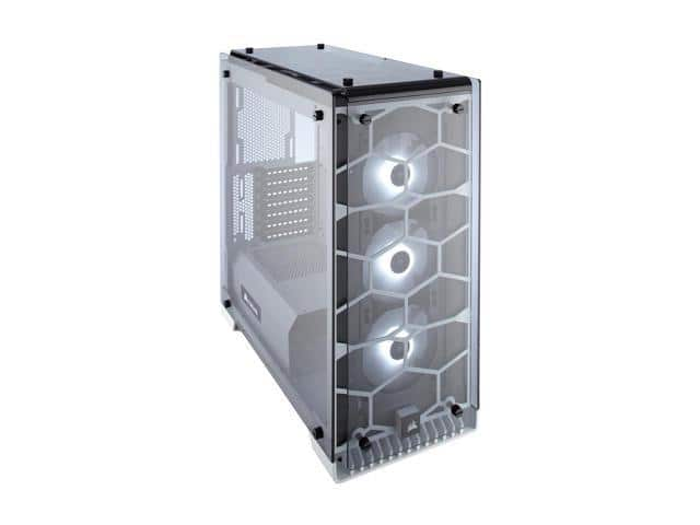 CORSAIR Crystal 570X RGB Tempered Glass, Premium ATX Mid Tower Case, White $120