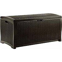 Amazon Deal: Suncast DBW9200 Mocha Wicker Resin Deck Box, 99-Gallon..$84 F/S Amazon...Lowest Ever